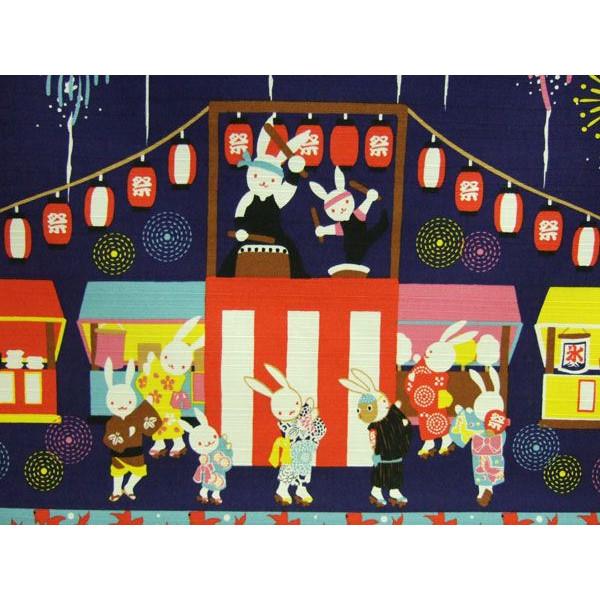 タペストリー 壁掛け 掛軸 夏祭り うさぎシリーズ【誕生日 バースデー ギフト 贈り物 プレゼント お祝い】の画像2枚目