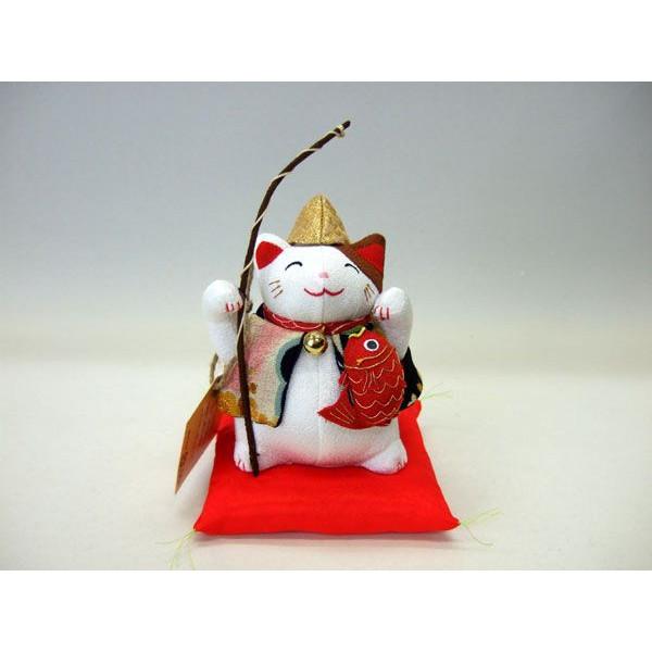 置物 招き猫 福猫 恵比寿様 七福神 和風 ぬいぐるみ ちりめん【和 雑貨 誕生日 バースデー ギフト 贈り物 プレゼント お祝い】の画像1枚目