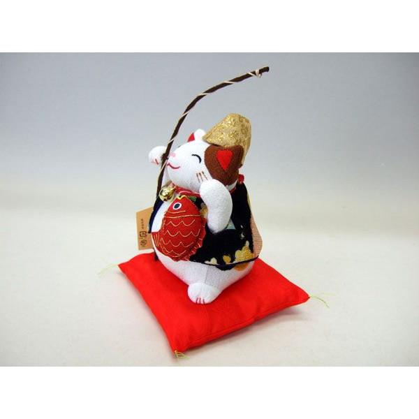 置物 招き猫 福猫 恵比寿様 七福神 和風 ぬいぐるみ ちりめん【和 雑貨 誕生日 バースデー ギフト 贈り物 プレゼント お祝い】の画像2枚目