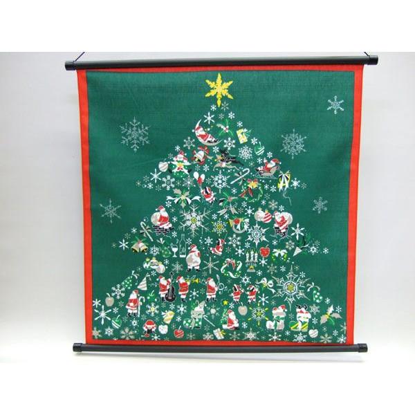 タペストリー 壁掛け 掛軸 クリスマス ツリー サンタクロース 彩時記シリーズ【誕生日 バースデー ギフト 贈り物 プレゼント お祝い】の画像1枚目