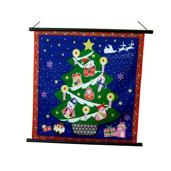 タペストリー 壁掛け 掛軸 クリスマス:ツリー 招き猫【誕生日 バースデー ギフト 贈り物 プレゼント お祝い】