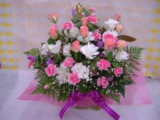 オリジナルアレンジメント ピンク系【花 フラワーギフト プレゼント お祝い 誕生日 贈り物】の画像1枚目