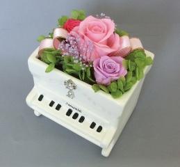 ブリザーブドフラワー アップライトピアノ ピンク【花 フラワーギフト プレゼント お祝い 誕生日 贈り物】