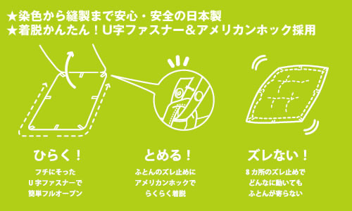 掛け布団カバー JL-003(パターン)キング(260×210cm)【寝具 まくら 枕 ベッドウェア 睡眠 快適】の画像2枚目