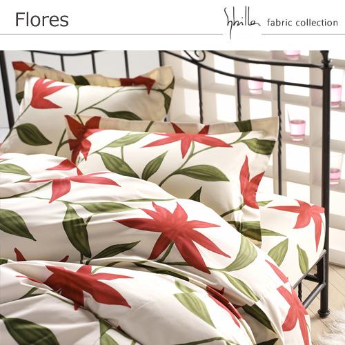 掛けふとんカバー[sybilla]Flores シングル(150×210cm)【寝具 まくら 枕 ベッドウェア 睡眠 快適】