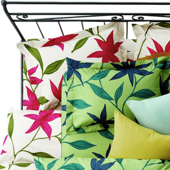 掛けふとんカバー[sybilla]Flores クイーン(220×210cm)【寝具 まくら 枕 ベッドウェア 睡眠 快適】の画像2枚目