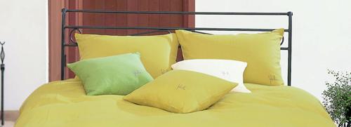 ピロケース 麻リネン(ロゴ入り)L (50×70cm)【寝具 まくら 枕 ベッドウェア 睡眠 快適】の画像2枚目