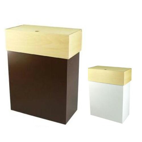 【ヤマト工芸】YK09-011 ゴミ箱 HANGER DUST F(蓋付) 45L ゴミ箱イズム【送料無料 おしゃれ 木製 誕生日 バースデー ギフト 贈り物 プレゼント お祝い】の画像1枚目