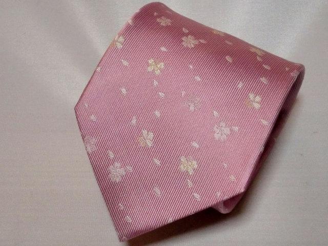 ネクタイ『和』桜吹雪 ピンク(桜色【誕生日 バースデー ギフト 贈り物 プレゼント お祝い 和 こだわり 父の日】