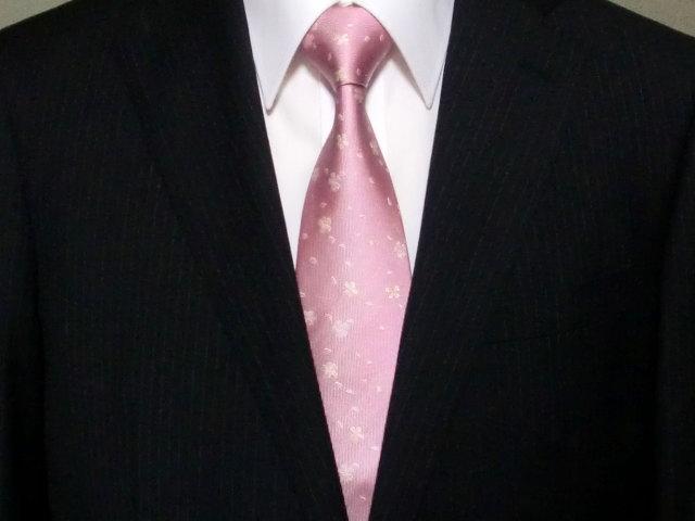 ネクタイ『和』桜吹雪 ピンク(桜色【誕生日 バースデー ギフト 贈り物 プレゼント お祝い 和 こだわり 父の日】の画像2枚目