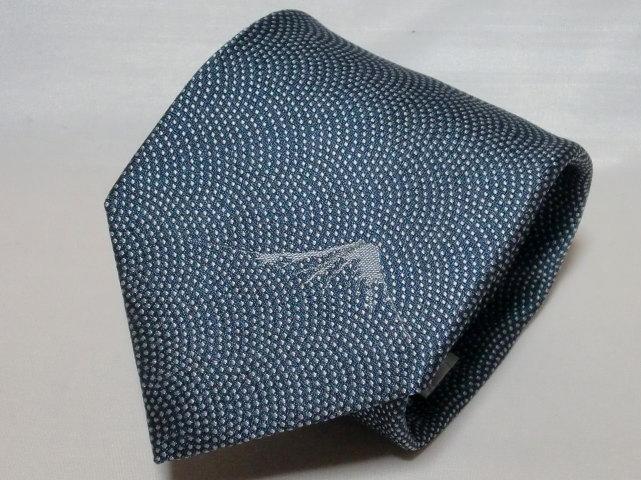 ネクタイ『和』 鮫小紋・富士山ワンポイント 藍色【誕生日 バースデー ギフト 贈り物 プレゼント お祝い 和 こだわり 父の日】