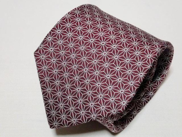 ネクタイ『和』麻の葉 紫【誕生日 バースデー ギフト 贈り物 プレゼント お祝い 和 こだわり 父の日】の画像3枚目