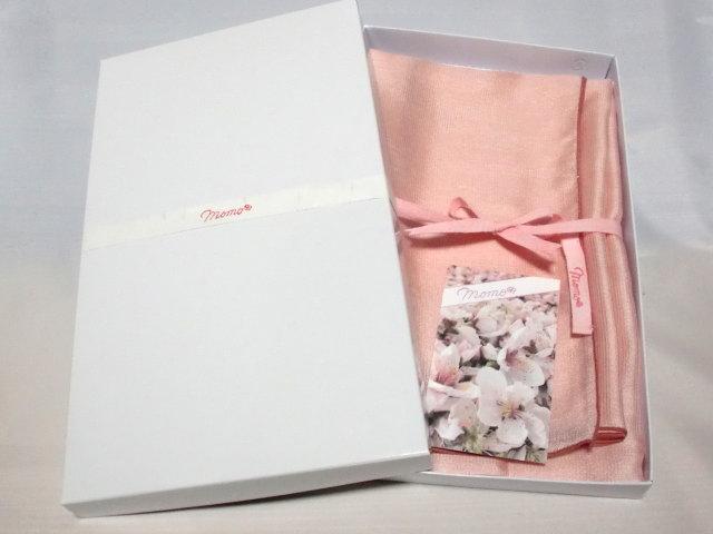ストール薄桃【誕生日 バースデー ギフト 贈り物 プレゼント お祝い 桃の花 和】の画像3枚目