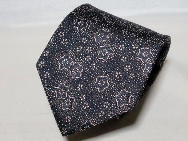 ネクタイ『和』 桜川 鼠色【日本製シルクジャカード】::1207【メンズファッション】記念日向けギフトの通販サイト「バースデープレス」