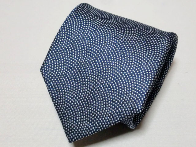 ネクタイ『和』 鮫小紋 紺 【日本製 シルクジャカード】::1207【メンズファッション】記念日向けギフトの通販サイト「バースデープレス」