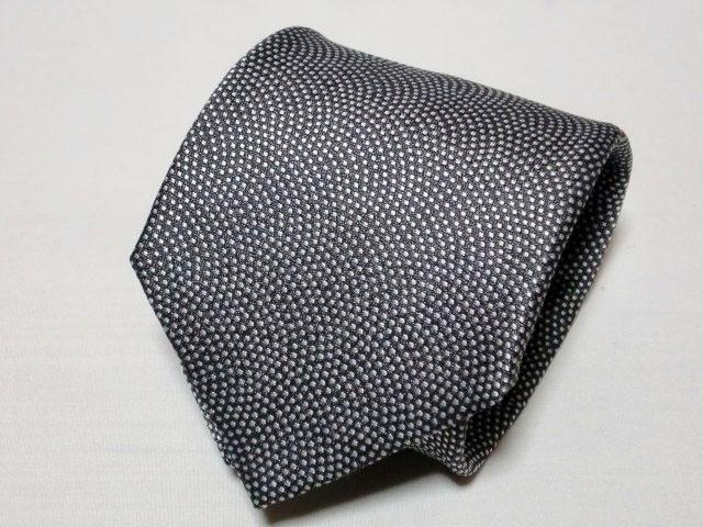 ネクタイ『和』 鮫小紋 グレー 【日本製 シルクジャカード】::1207【メンズファッション】記念日向けギフトの通販サイト「バースデープレス」