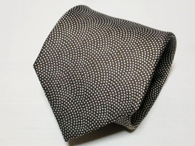 ネクタイ『和』 鮫小紋 茶 【日本製 シルクジャカード】::1207【メンズファッション】記念日向けギフトの通販サイト「バースデープレス」