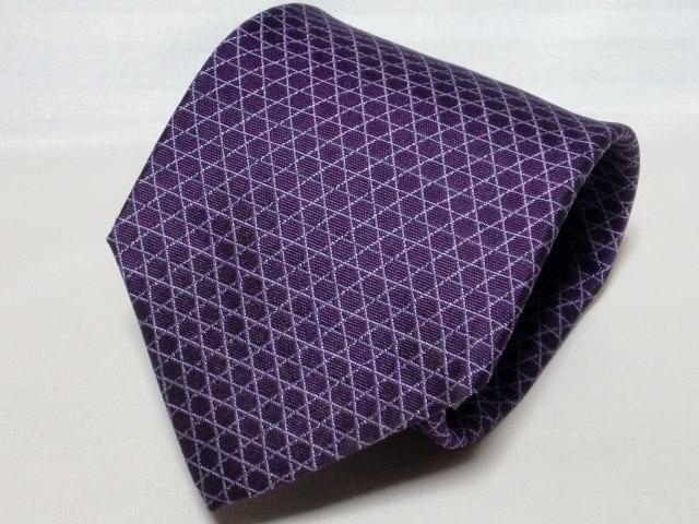 ネクタイ『和』 籠目 紫 【日本製 シルクジャカード】::1207【メンズファッション】記念日向けギフトの通販サイト「バースデープレス」