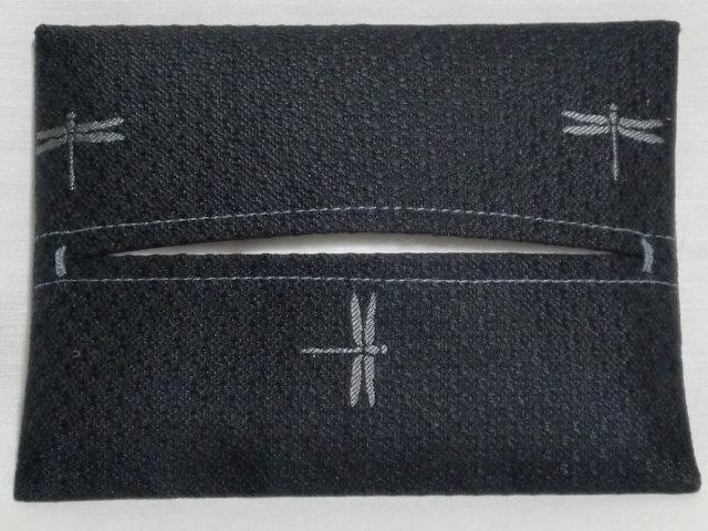 阿吽蜻蛉 ティッシュケース 大柄 黒×グレー::1207【メンズファッション】記念日向けギフトの通販サイト「バースデープレス」