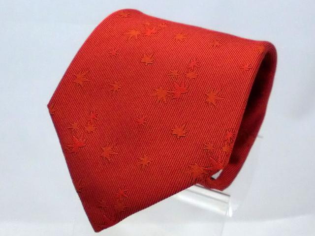 ネクタイ『和』 紅葉 紅【日本製シルクジャカード】::1207【メンズファッション】記念日向けギフトの通販サイト「バースデープレス」