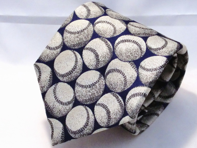 ネクタイ『趣』 野球 紺【日本製シルクジャカード】::1207【メンズファッション】記念日向けギフトの通販サイト「バースデープレス」