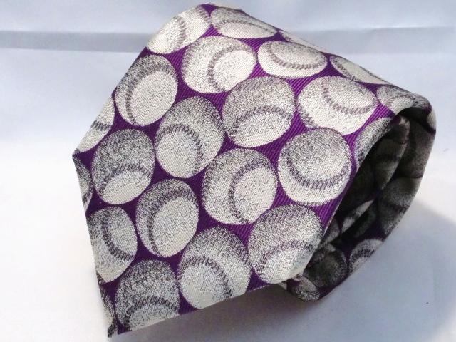 ネクタイ『趣』 野球 紫【日本製シルクジャカード】::1207【メンズファッション】記念日向けギフトの通販サイト「バースデープレス」