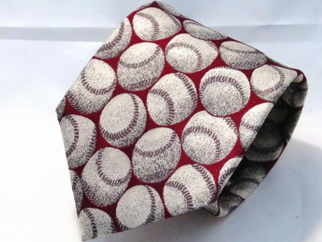 ネクタイ『趣』 野球 赤【日本製シルクジャカード】::1207【メンズファッション】記念日向けギフトの通販サイト「バースデープレス」