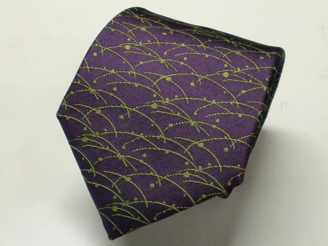 ネクタイ『和』 露芝 紫紺 【日本製 シルクジャカード】::1207【メンズファッション】記念日向けギフトの通販サイト「バースデープレス」