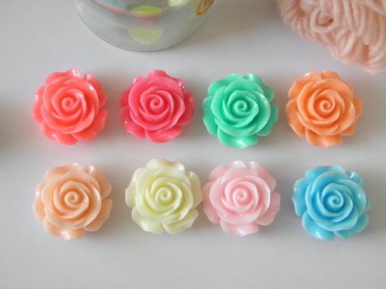 デコパーツ♪フラワー 花 はな ハナ可愛いバラ♪薔薇パステルカラーばら8色 1個::1244【バッグ・小物・ブランド雑貨】記念日向けギフトの通販サイト「バースデープレス」
