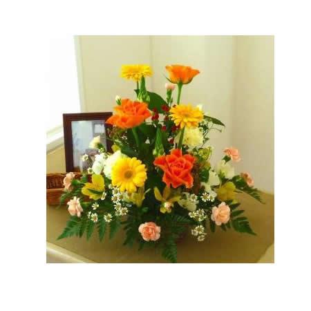 【送料無料】スタッフお任せ☆フラワーアレンジメント【スタンダードイエロー/オレンジ系】【花 アレンジメント フラワーギフト プレゼント お祝い 誕生日 贈り物】