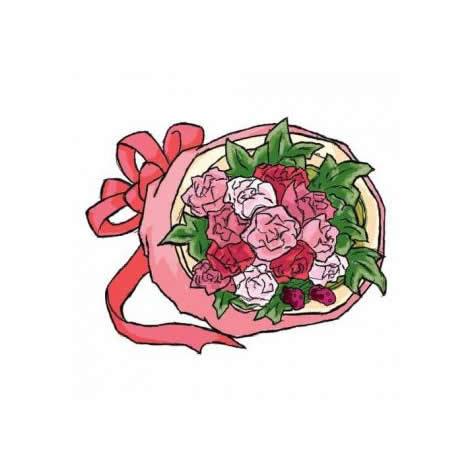 【送料無料】スタッフお任せ花束☆【ラウンドピンク系 S】【花 花束 ブーケ フラワーギフト プレゼント お祝い 誕生日 贈り物】の画像1枚目