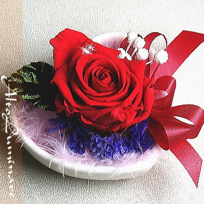 7月の誕生石プリザーブドフラワー&マンゴープリン6個セット【プリザーブドフラワー アレンジメント フラワーギフト プレゼント スイーツ お菓子】の画像2枚目