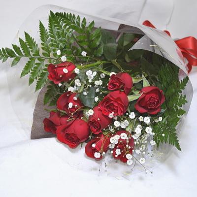 イタリアワインと10本のバラの花束【花 フラワーギフト プレゼント お祝い 誕生日 贈り物 薔薇 ワイン アルコール】の画像3枚目