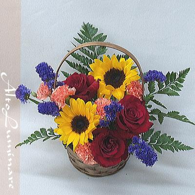 7月の誕生花アレンジメント&プレミアムとろけるプリン6個セット【花 フラワーギフト プレゼント お祝い 誕生日 贈り物】の画像2枚目