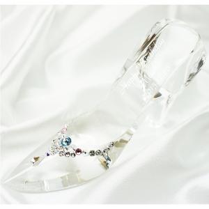 【送料無料】名入れデコのガラスの靴[クリスタルガラス製]