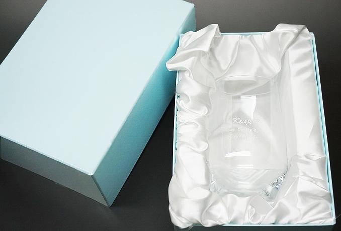 名前メッセージ入り♪キラキラリボングラス【記念日 結婚祝い パーティ 誕生日 バースデー ギフト 贈り物 プレゼント お祝い 彫刻エッチングスワロフスキー】の画像4枚目