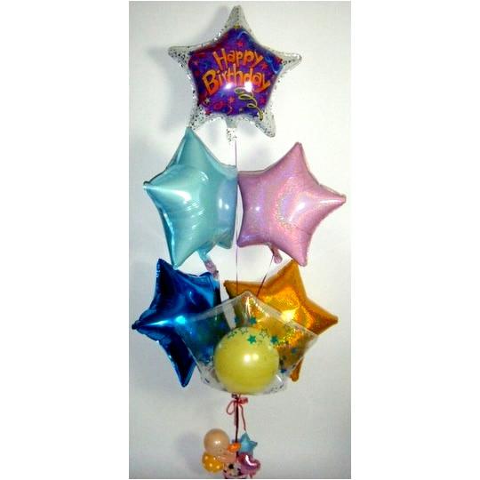 お誕生日プレゼントにきらきら星でバースデイ【風船 かわいい 誕生日 バースデー ギフト 贈り物 プレゼント お祝い】の画像1枚目