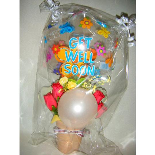 ゲットウエルスーン【風船 かわいい 誕生日 バースデー ギフト 贈り物 プレゼント お見舞い】の画像1枚目