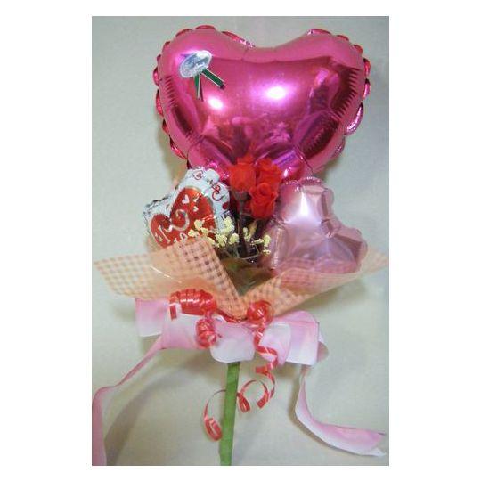 ハートブーケ【風船 かわいい 誕生日 バースデー ギフト 贈り物 プレゼント 結婚祝い ウェディング】の画像1枚目
