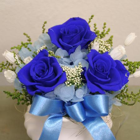 プリザーブドフラワー ギフト コバルトブルー【送料無料】【プリザーブドフラワー 花 フラワー 誕生日 バースデー プレゼント 贈り物 ギフト お祝い】