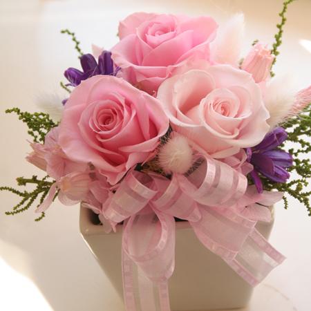 プリザーブドフラワー ギフト ほんわかピンク【送料無料】【プリザーブドフラワー 花 フラワー 誕生日 バースデー プレゼント 贈り物 ギフト お祝い】