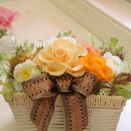 プリザーブドフラワー ギフト 感動のアレンジオレンジ【送料無料】【プリザーブドフラワー 花 フラワー 誕生日 バースデー プレゼント 贈り物 ギフト お祝い】