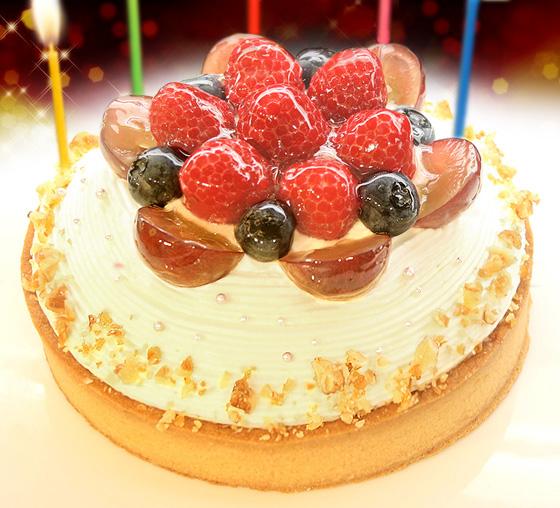 【一日5台限定】木苺のホワイトバースデーケーキ 14cm【プレート・キャンドル無料】の画像1枚目