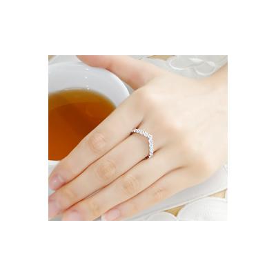 pt900 1.0ct Vラインダイヤモンドリング【アクセサリー ジュエリー 誕生日 バースデー プレゼント 贈り物 ギフト お祝い】の画像3枚目