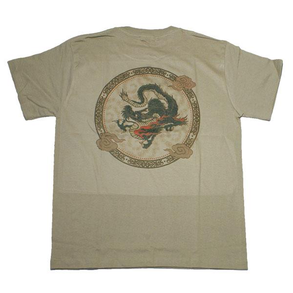 和柄 江戸てん Tシャツ「龍」(カーキ)::1402【バッグ・小物・ブランド雑貨】記念日向けギフトの通販サイト「バースデープレス」