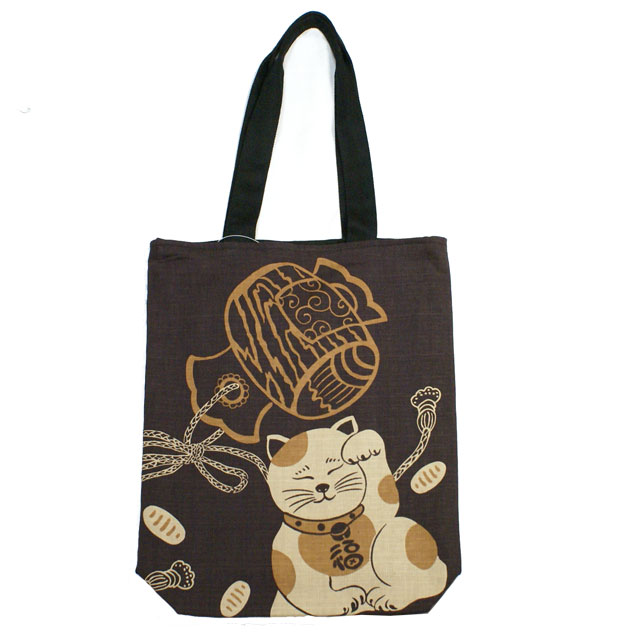 【開運亭】和柄縁起トートバッグ「招き猫」::1402【バッグ・小物・ブランド雑貨】記念日向けギフトの通販サイト「バースデープレス」
