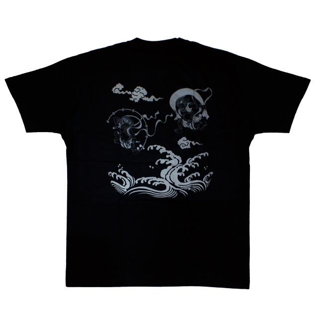 和柄 江戸てん Tシャツ「風雷波」(黒)::1402【バッグ・小物・ブランド雑貨】記念日向けギフトの通販サイト「バースデープレス」