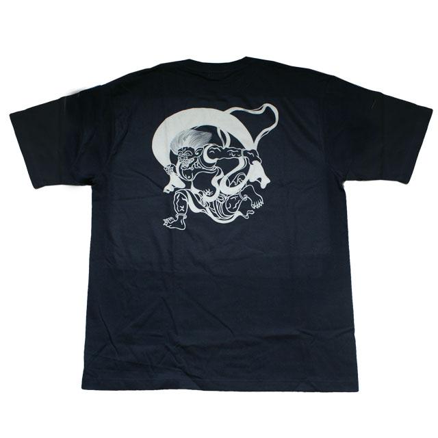 和柄 江戸てん 抜染Tシャツ「風神」(黒)::1402【バッグ・小物・ブランド雑貨】記念日向けギフトの通販サイト「バースデープレス」