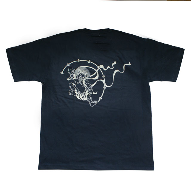 和柄 江戸てん 抜染Tシャツ「雷神」(黒)::1402【バッグ・小物・ブランド雑貨】記念日向けギフトの通販サイト「バースデープレス」