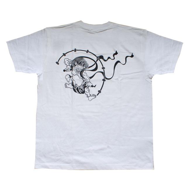 和柄 Tシャツ「雷神」(白)::1402【バッグ・小物・ブランド雑貨】記念日向けギフトの通販サイト「バースデープレス」
